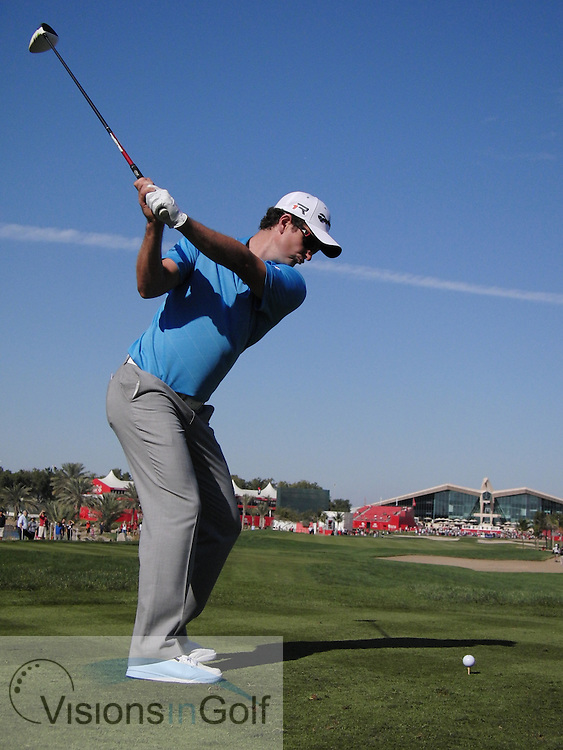 Justin Rose high speed swing sequence down the line January 2013<br /> Picture Credit:  Mark Newcombe / www.visionsingolf.com