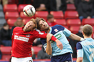 Picture by David Horn/Focus Images Ltd +44 7545 970036.03/11/2012.Rob Hulse of Charlton Athletic and Jonathan Woodgate of Middlesbrough during the npower Championship match at The Valley, London.