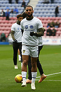 Leeds United midfielder Kemar Roofe (7) warming up during the EFL Sky Bet Championship match between Wigan Athletic and Leeds United at the DW Stadium, Wigan, England on 4 November 2018.