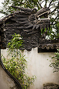 Dragon Wall Decorative traditional wall in Yu Yuan Gardens Shanghai, China