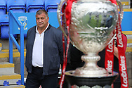 Shaun Wane, head coach of Wigan Warriors on the touchline prior to the Ladbrokes Challenge Cup, Quarter Final match against Warrington Wolves at the Halliwell Jones Stadium, Warrington.<br /> Picture by Michael Sedgwick/Focus Images Ltd +44 7900 363072<br /> 02/06/2018