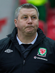 LLANELLI, WALES - Friday, March 22, 2013: Wales Under-21 manager Geraint Williams before the 2015 UEFA European Under-21 Championship Qualifying Group A match at Parc y Scarlets. (Pic by Kieran McManus/Propaganda)