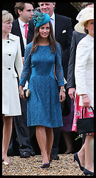 Pippa Middleton at the wedding of James Meade and  Lady Laura Marsham  in Gayton, Norfolk, United Kingdom,  Saturday, 14th September 2013. Picture by Stephen Lock / i-Images