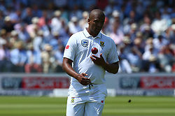 July 6, 2017 - London, England, United Kingdom - Vernon Philander of South Africa .during 1st Investec Test Match between England and South Africa at Lord's Cricket Ground in London on July 06, 2017  (Credit Image: © Kieran Galvin/NurPhoto via ZUMA Press)