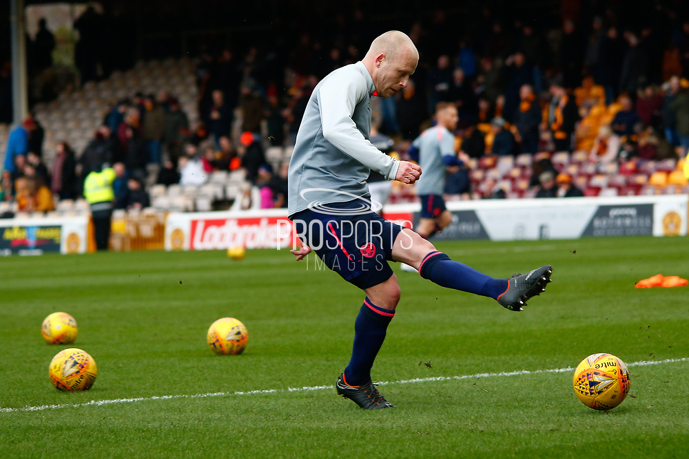 Steven Naismith of Hearts warming up ahead of the Ladbrokes Scottish Premiership match between Motherwell and Heart of Midlothian at Fir Park, Motherwell, Scotland on 17 February 2019.