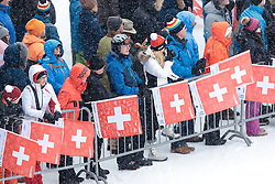10.02.2017, Biathlonarena, Hochfilzen, AUT, IBU Weltmeisterschaften Biathlon, Hochfilzen 2017, alpine Kombination, Damen, Slalom, im Bild Fans // Supporter during Slalom competition for the ladie's Alpine combination of the FIS Ski World Championships 2017. Biathlonarena in Hochfilzen, Austria on 2017/02/10. EXPA Pictures © 2017, PhotoCredit: EXPA/ Johann Groder