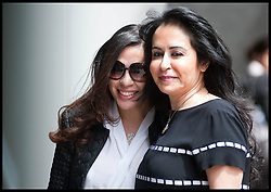 "Consultant Daad Sharab (right) arrives with her daughter  at the High Court she claims Saudi Prince Al-Waleed Bin Talal Bin Abdul-Aziz Al-Saud owes her around £6.5 million commission for the part she played in a 2005 Airbus deal. Prince Al-Waleed disputes her claim and denies that any agreement was made for a ""specific commission"". London, United Kingdom<br /> Monday, 1st July 2013<br /> Picture by Piero Cruciatti / i-Images"