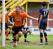 David Goodwillie celebrates after scoring - Dundee United v Hearts, Clydesdale Bank Scottish Premier League at Tannadice Park..© David Young Photo.5 Foundry Place.Monifieth.Angus.DD5 4BB.Tel: 07765252616.email: davidyoungphoto@gmail.com.http://www.davidyoungphoto.co.uk