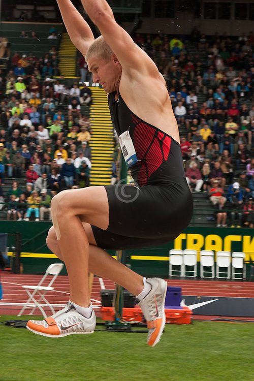 Olympic Trials Eugene 2012: Decathlon, long jump, Miller Moss