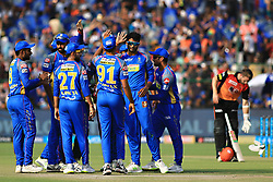April 29, 2018 - Jaipur, Rajasthan, India - Rajasthan Royals  team players celebrate the wicket during the IPL T20 match against Sunrisers  Hyderabad at Sawai Mansingh Stadium in Jaipur on 29th April,2018. (Credit Image: © Vishal Bhatnagar/NurPhoto via ZUMA Press)