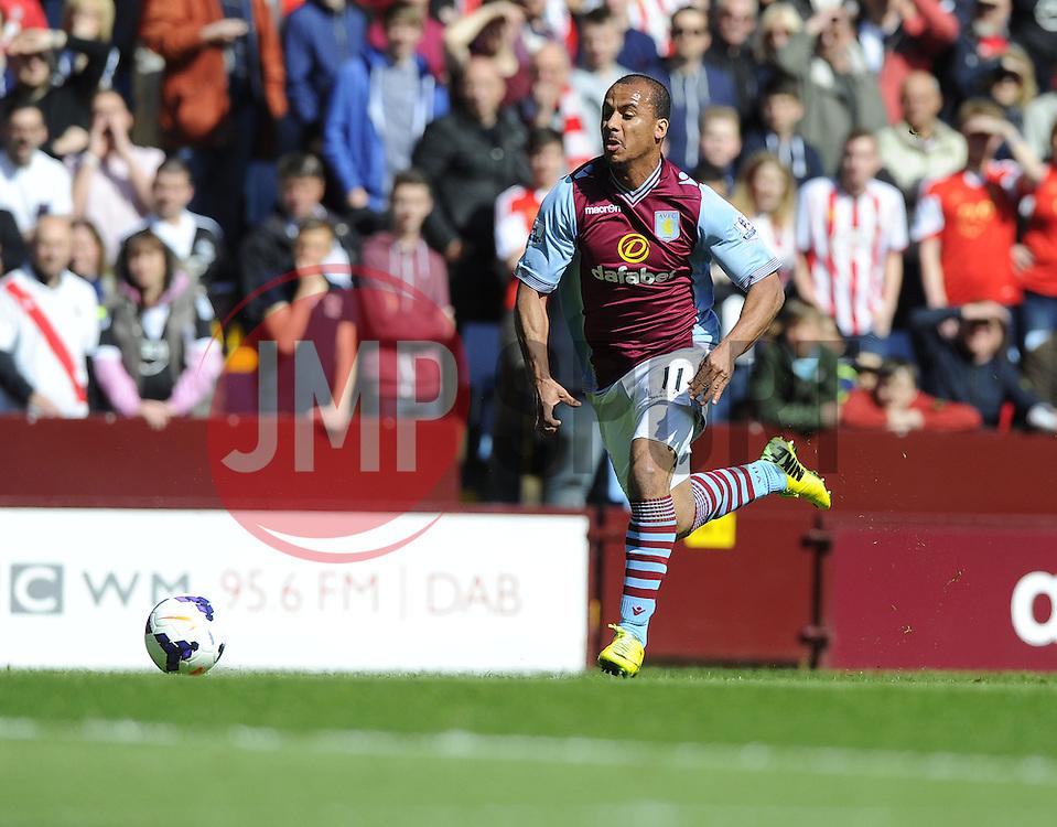 Aston Villa's Gabriel Agbonlahor  - Photo mandatory by-line: Joe Meredith/JMP - Mobile: 07966 386802 19/04/2014 - SPORT - FOOTBALL - Birmingham - Villa Park - Aston Villa v Southampton - Barclays Premier League
