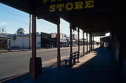 Early morning at the historic OK Corral on Allen Street, Tombstone, Arizona, ©2000 Edward McCain, All Rights Reserved, McCain Photography 520-623-1998