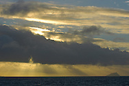 Stormy sunset in the Great Barrier Reef, Australia, Pacific Ocean