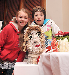 Wooly Crafted.......,.Tammy Borman and Riada Carney-Slee pictured at Craftworks Mayo Winter expo at the Wyayy Hotel Westport over the weekend...Pic Conor McKeown