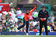 Adil Rashid during the International T20 match between South Africa and England at Supersport Park, Centurion, South Africa on 16 February 2020.