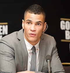 Boxer Anthony Ogogo, Middle Weight 2012 Olympic Bronze Medalist press conference to announce his signing to Golden Boy Promotions, Mayfair, London, Great Britain, January 16, 2013. Photo by Elliott Franks / i-Images. .