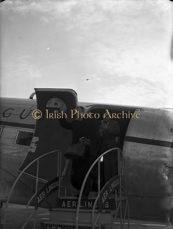 Rev Fr Aidan McGrath, Legion of Mary envoy to China on Arrival at Dublin Airport.19/06/1954