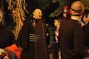 "Salem, MA 103109   Justin Arrigo (Cq) of Marblehead, MA delighted Halloween revellers while dressed as ""Imp."" According to Salem Police Department close to 100,000 people showed up at this Massachussetts city of about 41,000 to celebrate Halloween. (Essdras M Suarez/ ZUMA)"