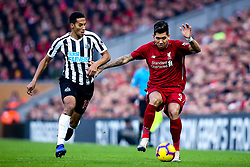 Roberto Firmino of Liverpool takes on Isaac Hayden of Newcastle United - Mandatory by-line: Robbie Stephenson/JMP - 26/12/2018 - FOOTBALL - Anfield - Liverpool, England - Liverpool v Newcastle United - Premier League