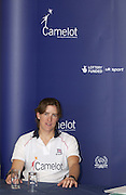 Eton, Berkshire, ENGLAND. Katherine Grainger on the top table during the Q&A session, at the British International Rowing, Team announcment, for 2006 World Cup Regattas' Peter Spurrier/Intersport Images,.Mobile 44 (0) 7973 819 551.email images@intersport-images.com   [Mandatory Credit, Peter Spurier/ Intersport Images].