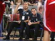 DESCRIZIONE : Madrid Spagna Spain Eurobasket Men 2007 Qualifying Round Italia Turchia Italy Turkey GIOCATORE : Dino Meneghin, Carlo Recalcati SQUADRA : Nazionale Italia Uomini Italy <br /> EVENTO : Eurobasket Men 2007 Campionati Europei Uomini 2007 <br /> GARA : Italia Turchia Italy Turkey <br /> DATA : 10/09/2007 <br /> CATEGORIA : Ritratto <br /> SPORT : Pallacanestro <br /> AUTORE : Ciamillo&amp;Castoria/A.Vlachos <br /> Galleria : Eurobasket Men 2007 <br /> Fotonotizia : Madrid Spagna Spain Eurobasket Men 2007 Qualifying Round Italia Turchia Italy Turkey Predefinita :