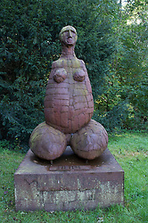 Sculpture in wood at Museum Hombroich at Neuss in Germany