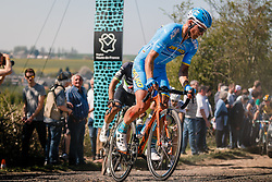 Rider of Delko Marseille Provence KTM during the 115th Paris-Roubaix (1.UWT) from Compiègne to Roubaix (257 km) at cobblestones sector 25 from Briastre to Solesmes, France, 9 April 2017. Photo by Pim Nijland / PelotonPhotos.com | All photos usage must carry mandatory copyright credit (Peloton Photos | Pim Nijland)