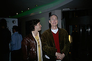 Andy Garcia and Nigel Planer, Cast change for Wicked. Apollo Victoria theatre. After party at Park Plaza Victoria. 12 April 2007.  -DO NOT ARCHIVE-© Copyright Photograph by Dafydd Jones. 248 Clapham Rd. London SW9 0PZ. Tel 0207 820 0771. www.dafjones.com.