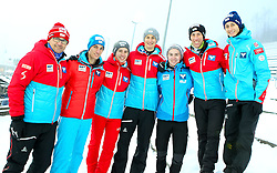 11.12.2016, Lysgards Schanze, Lillehammer, NOR, FIS Weltcup Ski Sprung, Lillehammer, im Bild v.l.: Clemens Aigner, Thomas Diethart, Thomas Lackner, Thomas Hofer, Max Steiner, Clemens Leitner, Harald Diess // f.r.: Austrians Clemens Aigner, Thomas Diethart, Thomas Lackner, Thomas Hofer, Max Steiner, Clemens Leitner, Harald Diess during Mens Skijumping of FIS Skijumping World Cup at the Lysgards Schanze in Lillehammer, Norway on 2016/12/11. EXPA Pictures © 2016, PhotoCredit: EXPA/ Tadeusz Mieczynski