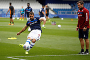 QPR Forward Conor Washington (9) warms up before kick off during the EFL Sky Bet Championship match between Queens Park Rangers and Hull City at the Loftus Road Stadium, London, England on 19 August 2017. Photo by Andy Walter.