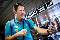 Aleksander Peric of Slovenian deaf team before departure to 23rd Summer Deaflympics in Samsun, Turkey, on July 14, 2017 at Airport Joze Pucnik, Brnik, Slovenia. Photo by Vid Ponikvar / Sportida