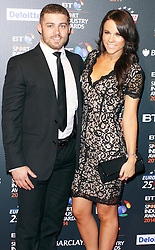 © Licensed to London News Pictures. 08/05/2014, UK. Leigh Halfpenny & Jess Tumelty, BT Sport Industry Awards 2014, Battersea Evolution, London UK, 08 May 2014. Photo credit : Brett D. Cove/Piqtured/LNP