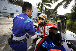 February 3, 2018 - Malaisie, Sepang - 33 EURASIA MOTORSPORT (MAL) LIGIER JSP2 LMP2 NABIL JEFFRI (MAS) LMP2 AND OVERALL POLESITTER WITH CREW MEMBER (Credit Image: © Panoramic via ZUMA Press)