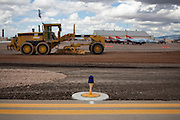 Construction equipment used in work building new runways at Holloman Air Force Base in Otero County. HAFB received over $21 million to upgrade various facilities as part of the Recovery and Reinvestment Act.
