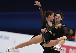 January 20, 2018 - Moscow, Russia - Alisa Agafonova and Alper Ucar of Turkey perform during an ice dance free dance event at the 2018 ISU European Figure Skating Championships, at Megasport Arena in Moscow, on January 20, 2018. (Credit Image: © Igor Russak/NurPhoto via ZUMA Press)