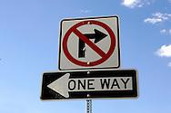 US-LAS VEGAS: Las Vegas traffic sign, one way..PHOTO GERRIT DE HEUS