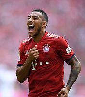 Fussball  1. Bundesliga  Saison 2018/2019  3. Spieltag  FC Bayern Muenchen - Bayer 04 Leverkusen       15.08.2018 JUBEL FC Bayern Muenchen; Torschuetze zum 1-1 Corentin Tolisso ----DFL regulations prohibit any use of photographs as image sequences and/or quasi-video.----