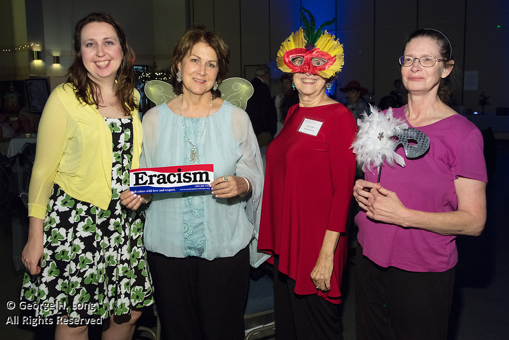 """Keren Peymani, Sally Buras, Diane Casteel, and Linda Allen; The Women's Center for Healing and Transformation """"An Evening of Masquerade"""" fifth annual fundraising gala at the Castine Center in Mandeville, Louisiana on March 31, 2017"""