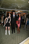 TINSEL EDWARDS, SIMON AND TALLULAH ADEYEM, Beyond Belief-Damien Hirst. White Cube Hoxton and Mason's Yard.Party  afterwards at the Dorchester. Park Lane. 2 June 2007.  -DO NOT ARCHIVE-© Copyright Photograph by Dafydd Jones. 248 Clapham Rd. London SW9 0PZ. Tel 0207 820 0771. www.dafjones.com.