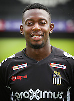 Charleroi's Francis N'Ganga pictured during the 2015-2016 season photo shoot of Belgian first league soccer team Sporting de Charleroi, Tuesday 14 July 2015 in Charleroi.