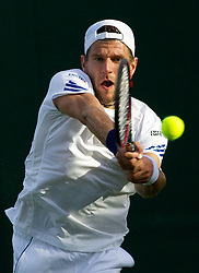 21.06.2011, Wimbledon, London, GBR, Wimbledon Tennis Championships, im Bild Jürgen Melzer (AUT) in action during the Gentlemen's Singles 1st Round match day two of the Wimbledon Lawn Tennis Championships at the All England Lawn Tennis and Croquet Club, EXPA Pictures © 2011, PhotoCredit: EXPA/ Propaganda/ *** ATTENTION *** UK OUT!