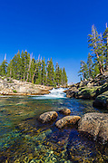 Cascade on the Tuolumne River, Tuolumne Meadows, Yosemite National Park, California USA