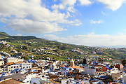 CHEFCHAOUEN, MOROCCO - 27th MARCH 2014 - View of the Chefchaouen Medina - the blue city - Rif Mountains, Northern Morocco.