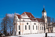 the baroque church of Wieskirche, Allgau, Germany