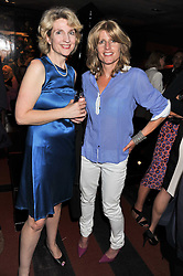 Left to right, JANE THYNNE and RACHEL JOHNSON at a party to celebrate the publication of Ghosts by Daylight by Janine Di Giovanni held at Blakes Hotel, London on 12th July 2011.