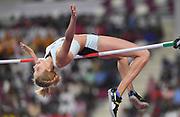 Yaroslava Mahuchikh (UKR) wins the women's high jump at 6-5 (1.96m) the IAAF Doha Diamond League 2019 at Khalifa International Stadium, Friday, May 3, 2019, in Doha, Qatar (Jiro Mochizuki/Image of Sport)