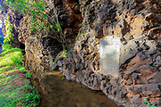 Menehune Ditch, Waimea, Kauai, Hawaii