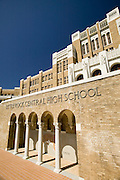 Central High School in Little Rock Arkansas where race riots happened in the early 1960's