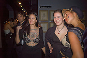 Maria Theresia Thurn und Taxis, Victoria Aitken and Elizabeth Thurn und Taxis. Patti and Andy Wong  host a night of Surrealism to Celebrate the Chinese Year of the Rat. County Hall Gallery and Dali Universe. London. 27 January 2008. -DO NOT ARCHIVE-© Copyright Photograph by Dafydd Jones. 248 Clapham Rd. London SW9 0PZ. Tel 0207 820 0771. www.dafjones.com.