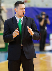 Dejan Mihevc, head coach of Grosuplje during basketball match between KK Grosuplje and KK Union Olimpija Ljubljana in 2nd Leg of Quarterfinals of Telemach League 2013/14, on May 6, 2014 in Grosuplje, Slovenia. Photo by Vid Ponikvar / Sportida